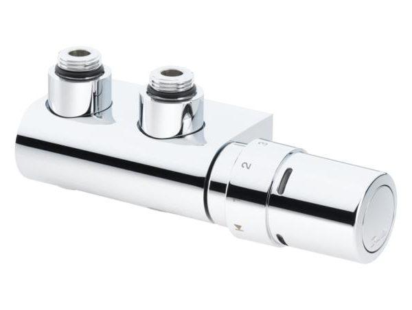 co pozwala na podłączenie grzejnika tylko w jednym punkcie. W skład zestawu wchodzi głowica RAX lub ogranicznik RTX. Zawór VHX reguluje przepływ wody wypływającej z grzejnika dlatego przewód powrotny instalacji powinien być usytuowany po stronie głowicy termostatycznej zestawu. Zawór posiada funkcję odcięcia wody. Fabrycznie głowica zamontowana jest z lewej strony