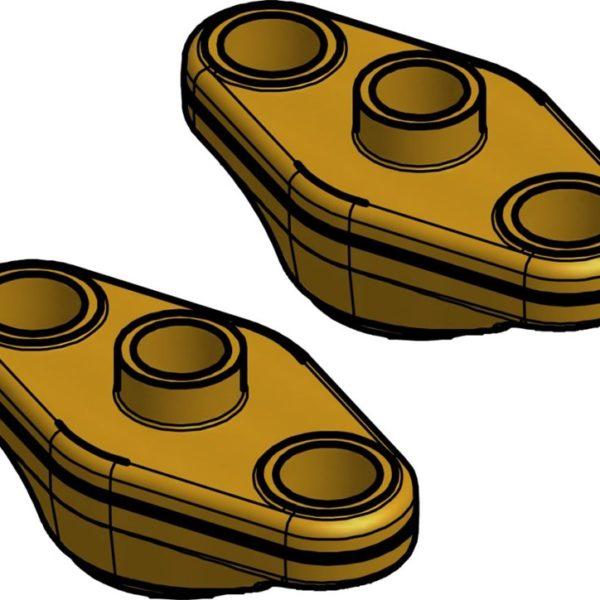 Zestawy kołnierzy, wersja 3, kołnierze z wypustem, do FA, TEA/TEAQ/TEAT/TEVA, PM, PMC, PMFL/PMFH, EVR/EVRA