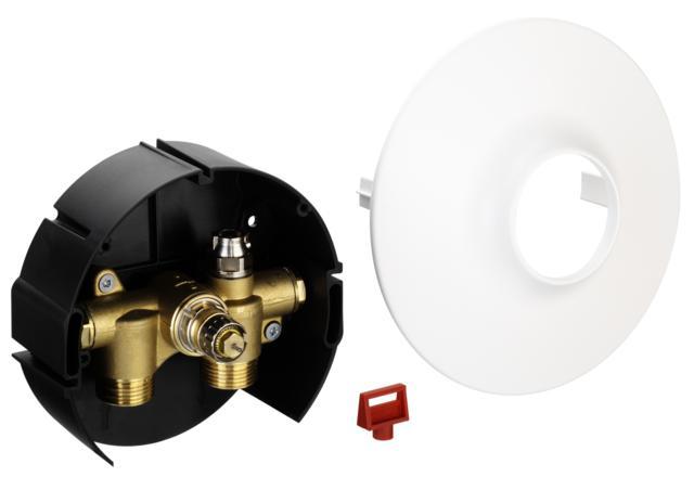 współpracując z ogranicznikiem temperatury powrotu FJVR lub głowicą termostatyczną RA 2994. Konstrukcja zaworu umożliwia wbudowanie go w ścianę. Zawór FHV może być dostarczony w wersji z odpowietrzeniem. Jest także dostosowany do złączek zaciskowych. Zawory FHV-A posiadają możliwość nastawy wstępnej
