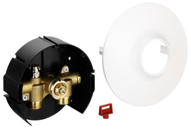 współpracując z ogranicznikiem temperatury powrotu FJVR lub głowicą termostatyczną RA 2994. Konstrukcja zaworu umożliwia wbudowanie go w ścianę. Zawór FHV może być dostarczony w wersji z odpowietrzeniem. Jest także dostosowany do złączek zaciskowych. Zawory FHV-R stosowane są do ograniczenia temperatury