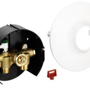 współpracując z ogranicznikiem temperatury powrotu FJVR lub głowicą termostatyczną RA 2994. Konstrukcja zaworu umożliwia wbudowanie go w ścianę. Zawór FHV może być dostarczony w wersji z odpowietrzeniem. Jest także dostosowany do złączek zaciskowych.