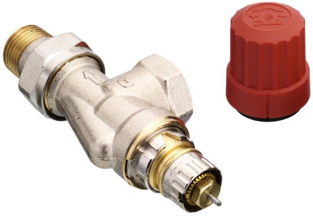 zapewniając optymalne zrównoważenie instalacji. Do zaworów RA-N pasują nastepujące rodzaje głowic termostatycznych: gazowe RA 2000