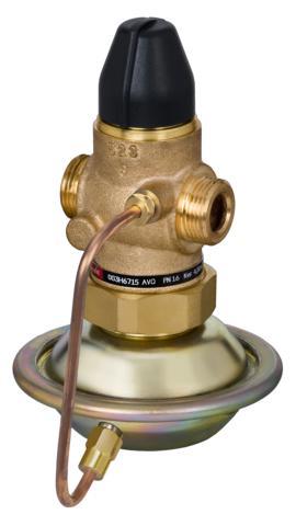 stosowany głównie do regulacji układów ciepłowniczych. AVQ zamyka się gdy żądany maksymalny przepływ zostanie przekroczony.