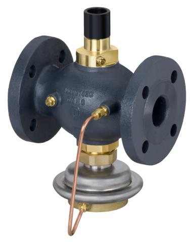 stosowany głównie w układach ciepłowniczych. Regulator zamyka się przy wzroście temperatury lub przepływu powyżej wartości nastawionej. Regulator można łączyć z siłownikami elektrycznymi firmy Danfoss AMV(E) (regulować przy pomocy regulatorów elektronicznych ECL) i z termostatami AVT i STM. W skład regulatora wchodzi zawór z dławikiem nastawczym i zakończeniami do połączenia siłownika elektrycznego i termostatu oraz siłownik z membraną.