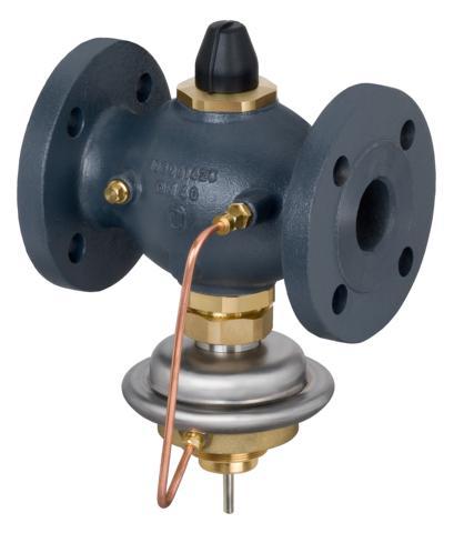 stosowany głównie w układach ciepłowniczych. Regulator zamyka się przy wzroście temperatury lub przepływu powyżej wartości nastawionej. Regulator można połączyć z termostatami AVT lub STM. W skład regulatora wchodzi zawór z dławikiem nastawczym i zakończeniem do połączenia termostatu oraz siłownik z membraną.