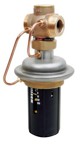 stosowany głównie w układach ciepłowniczych. Regulator normalnie jest zamknięty i otwiera się przy wzroście różnicy ciśnień powyżej wartości nastawionej. W skład regulatora wchodzi zawór