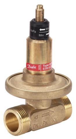 lub podobnych układów w celu zapewnienia stałej różnicy ciśnień nawet przy zmieniajacych się wartościach spadku ciśnienia w instalacji