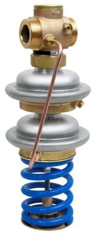 siłownik z dwoma membranami oraz sprężyna regulacji ciśnienia. Regulator zaprojektowany i przetestowany zg. z DIN 4747 (SÜV) i wytycznymi AGFW.