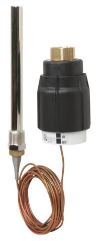 z zasobnikami lub z wymiennikami przepływowymi. Może być także stosowany w układach ze zmieszaniem pompowym jak również w systemach instalacji grzewczych. Regulator zamyka się przy wzroście temperatury. W połączeniu z zaworami VGS regulator stosowany głównie w instalacjach parowych lub wodnych dla temperatur nie przekraczających 200°C. Regulator zamyka się przy wzroście temperatury. W połączeniu z zaworami VGU(F) regulator stosowany głównie w instalacjach chłodniczych. Regulator otwiera się przy wzroście temperatury. Regulatory temperatury AVT / VG(F) i AVT / VGS są są przetestowane wg EN 14597. Mogą być używane w kombinacji połączeń