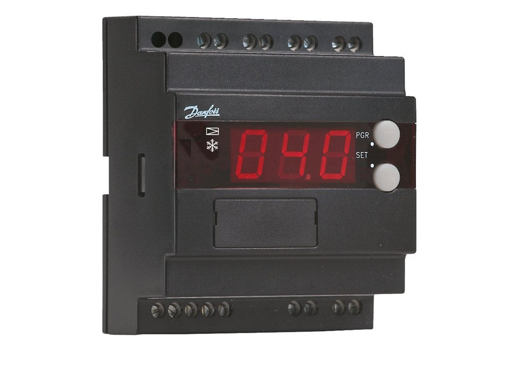 gdzie wymagana jest precyzja regulacja przegrzania i temperatury. Zawór rozprezny = typ TQ / AKV / ICM /MEV. Czujnik temperatury = typ AKS (Pt 1000 ?). Przetwornik ciśnienia = typ AKS 33