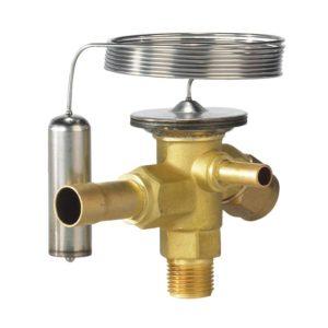 T/TE 2, TEB 2, TF/TEF 2, TY/TEY 2, TT 2, zawór z przyłączem śrubunek/lutowanie do czynników CFC, element termostatyczny i korpus zaworu