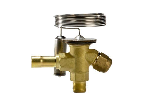 TZ 2/TEZ 2, zawór z przyłączem śrubunek/lutowanie do czynnika R407C, element termostatyczny i korpus zaworu