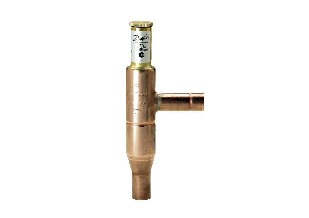 KVC, miedziane przyłącza lutowane, do regulacji obejściem gorącego gazu