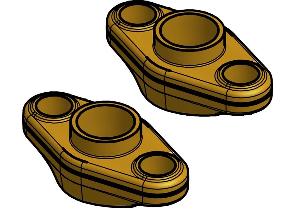 Zestaw kołnierzy, wersja 1.1, 1.4, 2.1 i 2.3, kołnierze wypust / wpust, do FA
