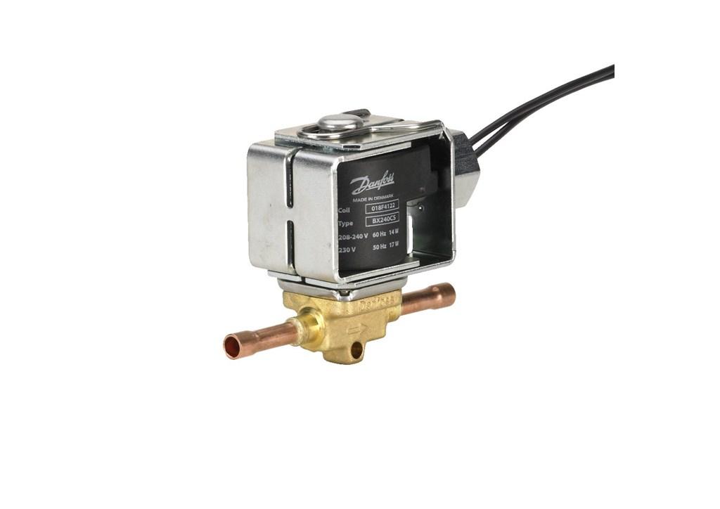 HFC. Temperatura medium: –40 - +105°C (cewka 10 W / 12 W). Maksymalna temperatura odtajania - 130°C. Minimalna róznica ciśnień do otwarcia
