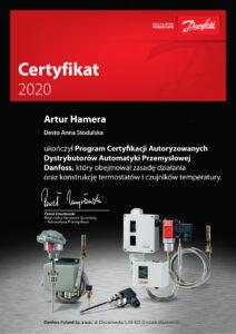 Certifikat AHamera 212x300 Dla Ciebie potwierdzamy nasze kompetencje